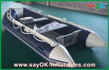 China Rigid Hull Fiberglass Small Inflatable Boats With Heavy Duty Aluminum Floor supplier