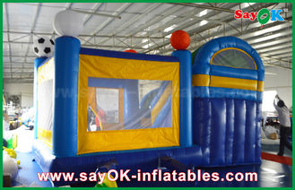 China Small 4x3m Inflatable PVC Bounce Castle Slider With Football Decoratiionn supplier
