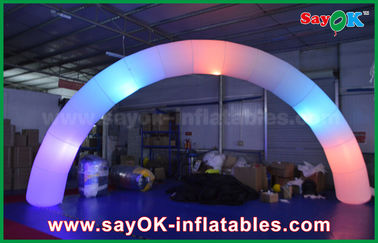 China 63cm DIA Nylon Cloth Inflatble Lighting Arch Way Gate For Decoration supplier
