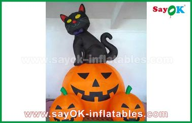 China Inflatable Holiday Decorations , Pumpkin Inflatable Cartoon Characters For Halloween supplier