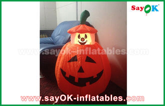 China Halloween LED light Inflatable Holiday Decorations , Human skeleton Inflatable Cartoon Characters supplier