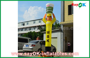 China Yellow Inflatable Air Dancer Cooker for Advertising , Inflatable Sky Dancer supplier