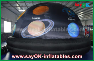 China 210 D Oxford Cloth And Projection Inflatable Planetarium Dome Black Color supplier