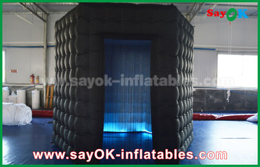 China 1 Door Diamond Oxford Cloth Inflatable Led Cube Photo Booth For Trade Show supplier