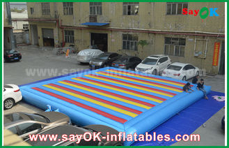 China 0.55mm PVC Inflatable Mat Bouncer For Children Playing Sports Game supplier