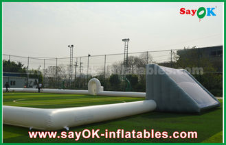 China Giant 10m Inflatable Football Field , Portable Inflatable Soccer Field With PVC Material supplier