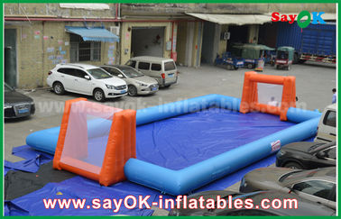 China Word Cup PVC Inflatable Sports Games , Customized Inflatable Football Pitch supplier
