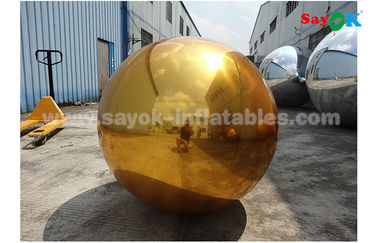 China 1m PVC Gold Inflatable Mirror Ball For Indoor Decoration Wedding Party supplier