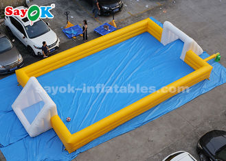 12*6m Yellow PVC Inflatable Sports Games Inflatable Soccer Field