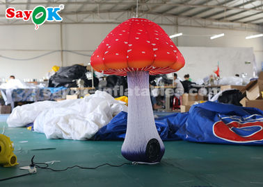 China 1.5m Inflatable Lighting Decoration / Inflatable Mushroom For Festival supplier