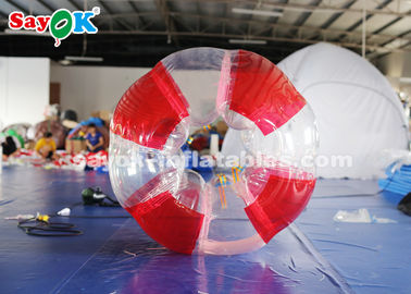 China 1.5m 0.8mm PVC Inflatable Bubble Soccer Transparent / Red / Green Color supplier
