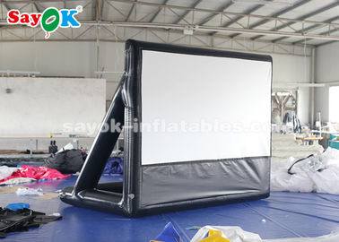 China 2.63×3.4m Projection Cloth Outdoor Inflatable Movie Screen For Science Centers supplier