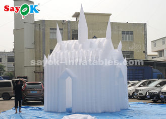 China White 210D Oxford Cloth Inflatable Bouncy Castle For Children Customized Size supplier