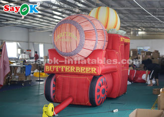 China High Air Tightness Inflatable Holiday Decorations Halloween Pumpkin Carriage supplier