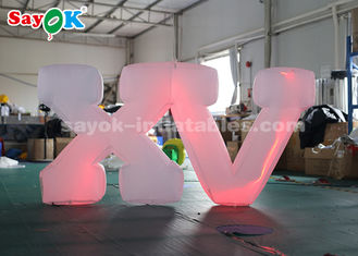 China 1.2m High Inflatable Lighting Decoration / Inflatable LED Letter Easy Set Up supplier