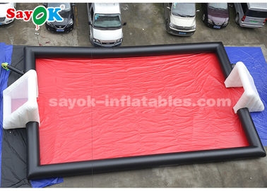 China 15*8m PVC Tarpaulin Inflatable Sports Games Inflatable Football Field supplier