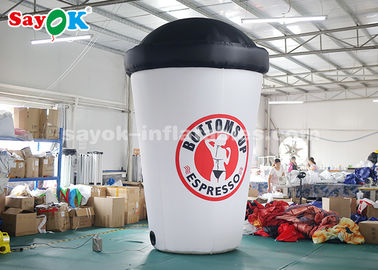 China 3.6m Custom Inflatable Products / Blow Up Coffee Cup For Advertising supplier