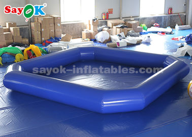 China Blue 5*5m Inflatable Water Pool For Advertising / Blow Up Swimming Pool supplier