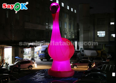 China Pink Inflatable Cartoon Characters , 10m High Giant Inflatable Flamingo supplier