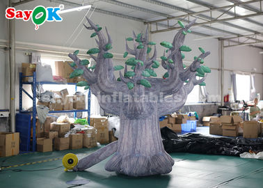 China 3 Meter 210D Oxford Cloth Giant Inflatable Tree For Advertisement supplier