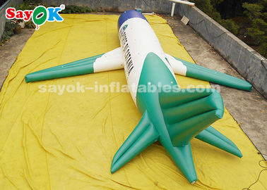 China ROHS Custom Inflatable Products , 10 Meter PVC Inflatable Airplane Model For Exhibition Display supplier