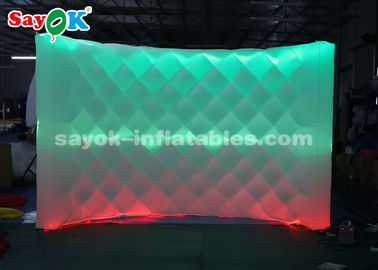 China Attractive Inflatable LED Photo Booth Backdrop Wall With Remote Control supplier