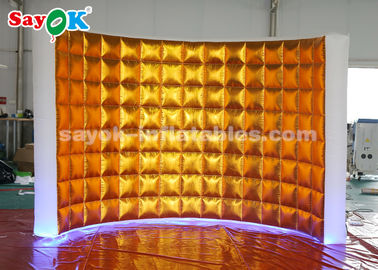 China Golden Oxford Cloth Inflatable Photo Booth Wall With LED Lights supplier