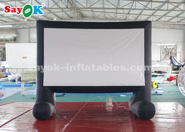 China Portable Inflatable Movie Screen With Air Blower For Backyard / Parks supplier