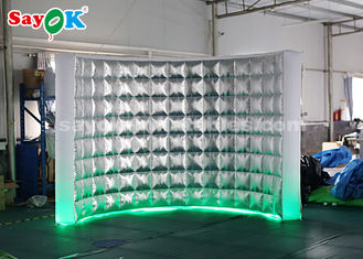 China Durable Photo Booth Inflatable Wall For Stage Decoration / Led Air Photo Booth supplier