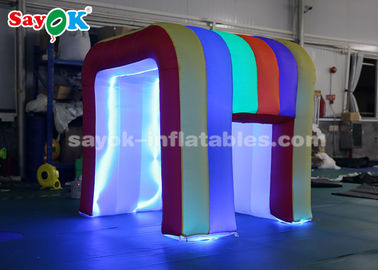 China Rainbow Color LED Light Mini Blow Up Photo Booth For Children SGS ROHS supplier
