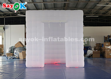 China Unique Inflatable Photo Booth With 17 Colors LED Changing Light supplier