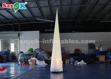 China Portable  Inflatable Lighting Decoration Column Lighting Cone White Fabric supplier