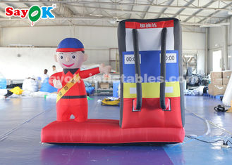 China Durable Inflatable Gas Station Cartoon Characters For Commercial supplier