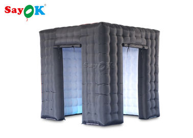 China Durable Inflatable Cube Photo Booth With Air Blower Size 2.5*2.5*2.5m supplier