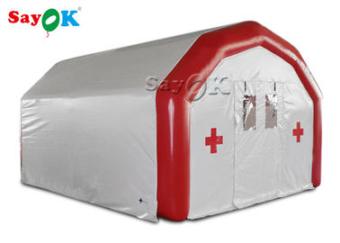 China Large Airtight Mobile Hospital Inflatable Medical Tent To Set Medical Beds supplier