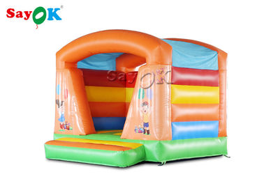 China Colorful Commercial  Inflatable Bounce House Trampoline Fire - Retardant supplier