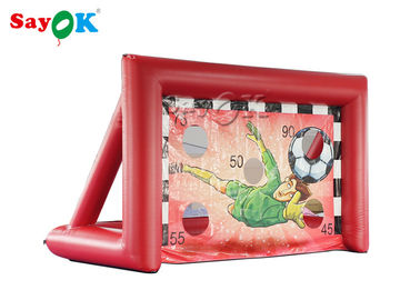 China Portable Inflatable Sports Games / Mini inflatable Soccer Door Outdoor Football Court supplier