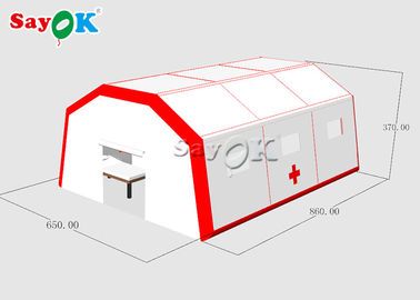 China Movable Water Resistant Inflatable Medical Tent To Set Beds With Air Pump supplier