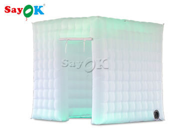 China Colored LED Light Inflatable Photo Booth For Holiday Event Portable supplier
