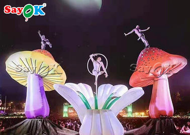 Multi - Color Inflatable Lighting Decoration / Blow Up Mushroom Model