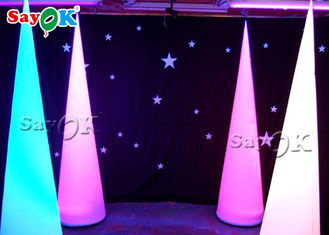 Attractive Inflatable Lighting Decoration / Blow Up Cone For Christmas