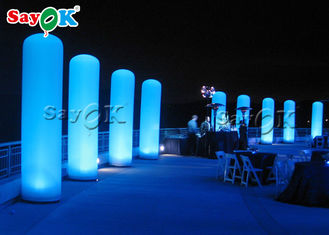 China Custom LED Inflatable Column Pillar For Wedding /  Stage / Party Entrance Decoration supplier
