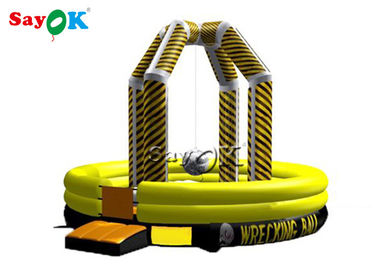 China Commercia Inflatable Wrecking Ball Game / Inflatable Demolition Game supplier