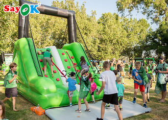 Motion Inflatable Obstacle Game Mini Green Inflatable Climbing Slide ROHS