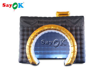 Black Led Inflatable Camera Photo Booth For Commercial Exhibition