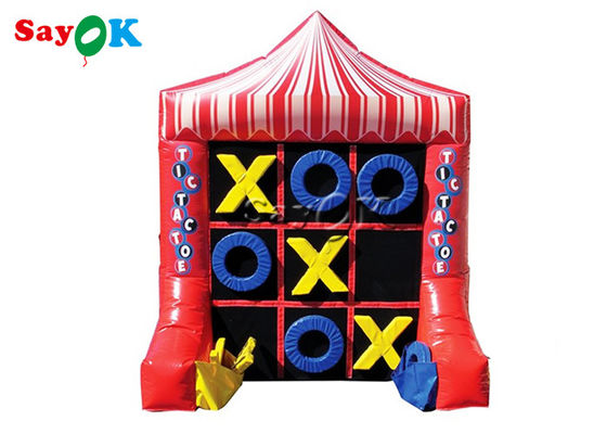 China 2x1.5x2.4m Portable 4 Spot Tic Tac Toe Inflatable Sport Games supplier