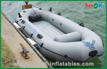 China Customized 4 Person Inflatable Paddle Boat Small Commercial Fishing Boat supplier