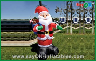 Custom Christmas Inflatable Holiday Decorations Santa Claus Oxford Cloth