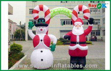 Giant Christmas Inflatable Snowman And Santa Claus , Inflatable Advertising Products
