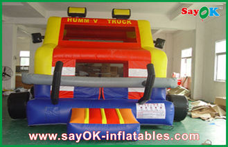 Outdoor Little Tikes Inflatable Bouncer Truck Shape PVC Jumper House For Amusement Park